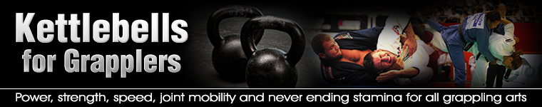 The title is Kettlebells for Grapplers